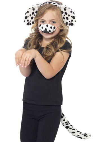 Kostüm Zubehör Dalmatiner Hund Ohren Schwanz Nase Karneval SMI
