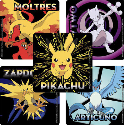 25 Pokemon Detective Pikachu Legendary Stickers Party Favors Teacher Supply
