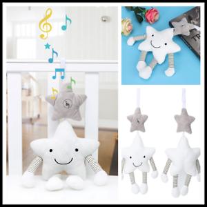 Cute Animal Baby Newborn Kids Pram Bed Stroller Musical Hanging Toys Handbells G
