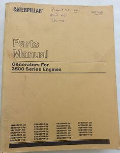 1991 caterpillar cat generators 3500 series engines parts manual oem rh ebay com Caterpillar Engine Service Manual Online Caterpillar Manuals
