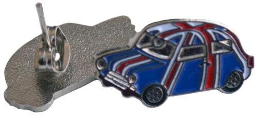 Earrings Union Jack classic mini Cooper car