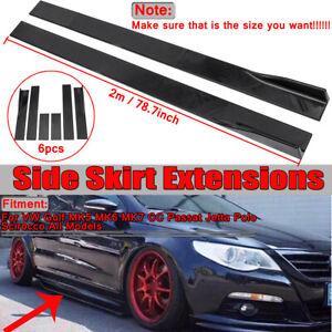 Universal-Car-Side-Skirt-Extension-Rocker-Panel-Splitters-Lip-For-Honda-BMW-Audi