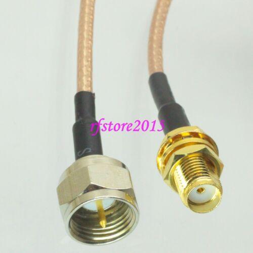 Cable RG316 6inch F TV male plug to SMA female jack bulkhead RF Pigtail Jumper