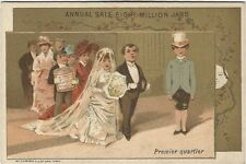 ca.1880's Wedding Scene Trade Card - Liebig Company Extract of Meat
