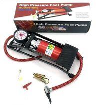 High Pressure Foot Pump Bicycle Ball Motorbike Car Type Inflater Air Pump UK