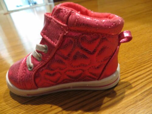 5T NEW GARANIMALS TODDLER GIRLS SHINY PINK HIGH TOP SNEAKERS  3T 4T 6T