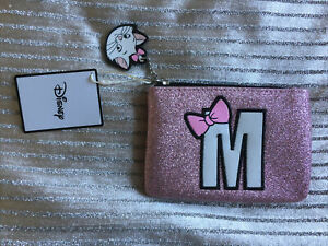 New-Disney-Primark-Marie-Cat-M-Pink-glitter-Mini-make-up-bag-coin-wallet-purse