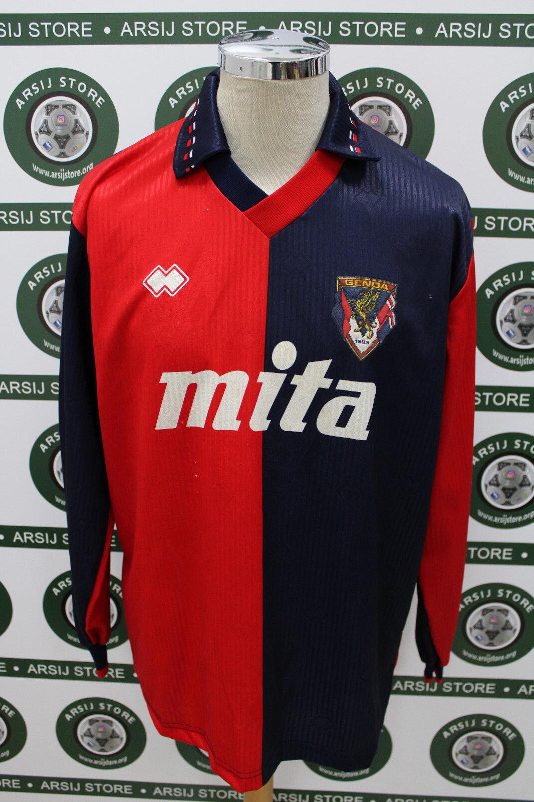 Maglia calcio shirt maillot trikot camiseta GENOA ERANIO  MATCH WORN 1991 92