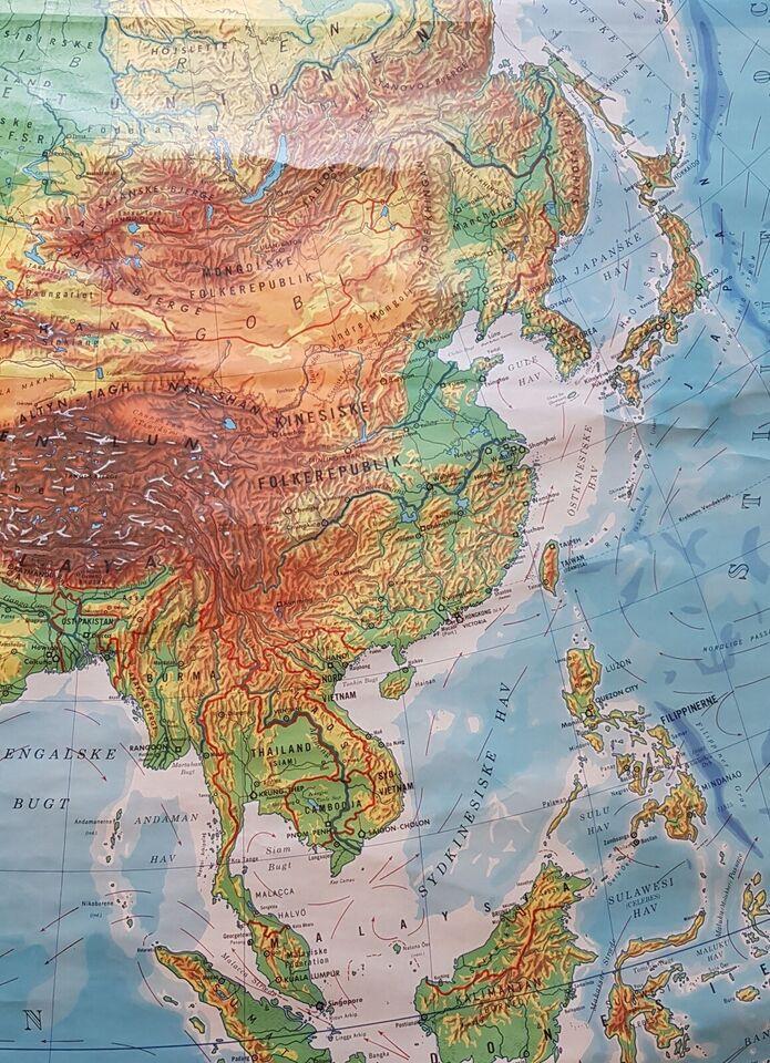 Landkort, Asien