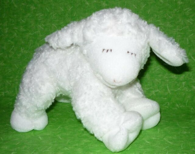 Baby Gund Winky Lamb Rattle Plush Lovey 8 White Sheep Stuffed Animal