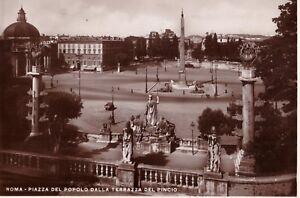 Dettagli Su Cartolina Roma Piazza Del Popolo Dalla Terrazza Del Pincio Viaggiata Nel 1937