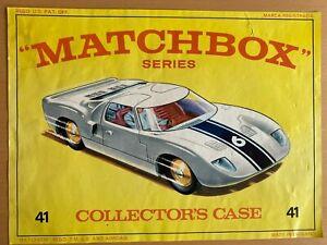 Original Matchbox Lesney Superfast Colecionadores Estojo Arte Capa Encarte