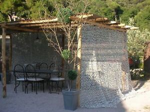 Filet de camouflage blanc au m2 rideau pergola tonnelle photo ...