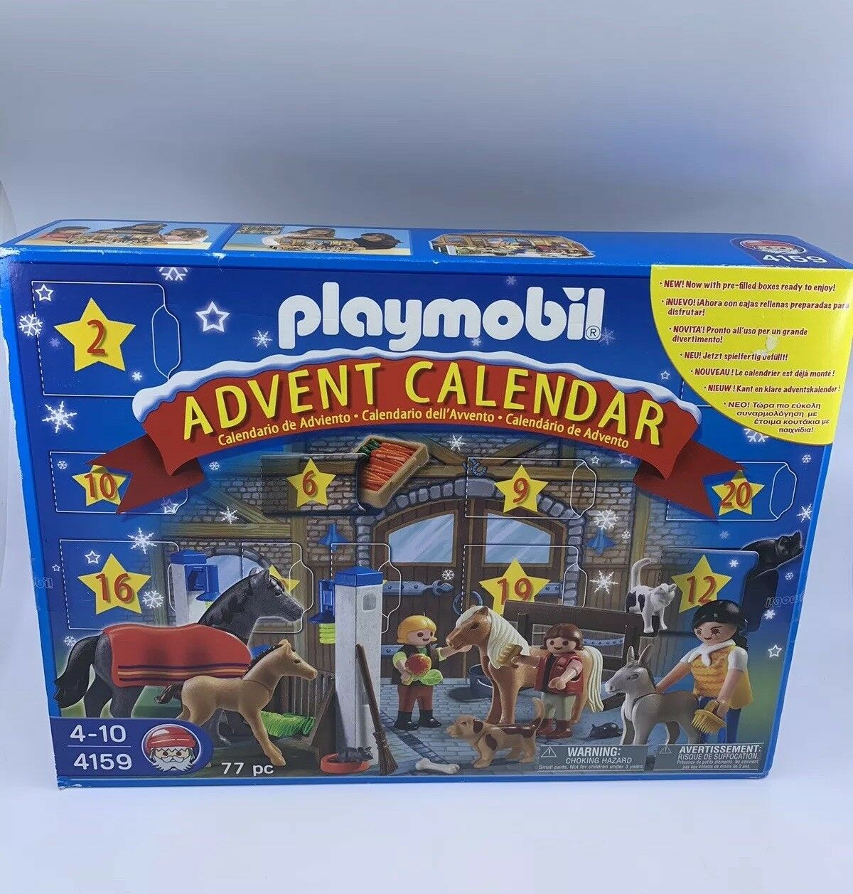 NEUF 2008 Playmobil  4159 Advent Calendar-Hard to Find 77pc Holiday Set  FACTORY SEALED  magasin d'offre