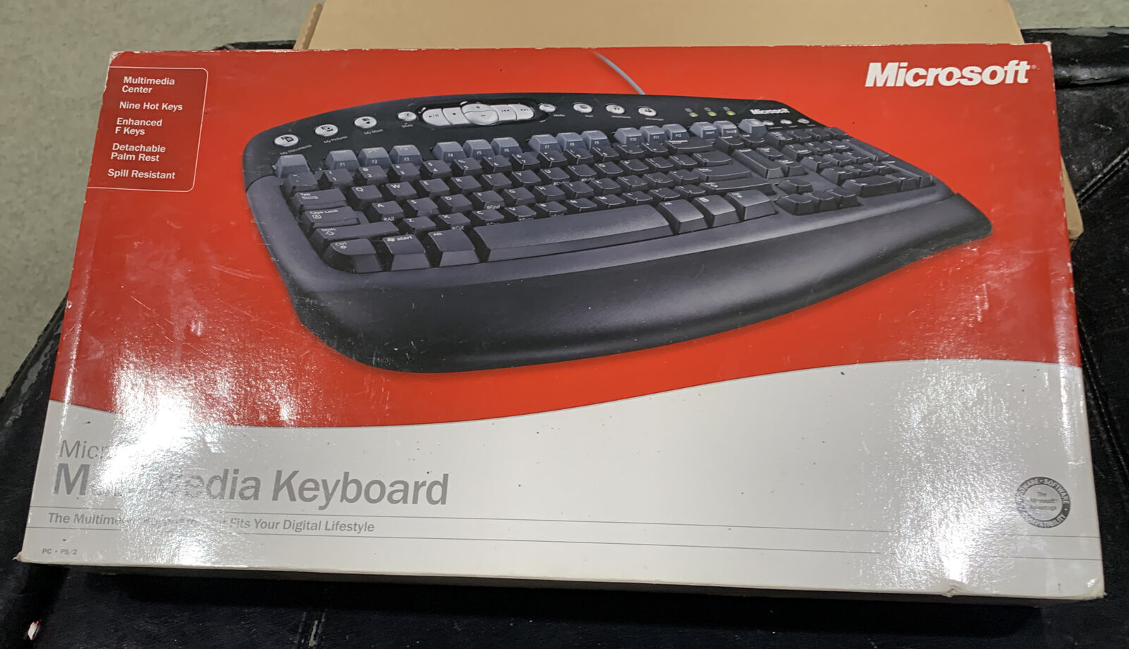 MICROSOFT MultiMedia Keyboard PS/2 Port NEW. Buy it now for 45.00