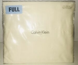 CALVIN-KLEIN-4-PC-Set-Full-Sheet-Set-100-Cotton-Made-in-INDIA-CREAM