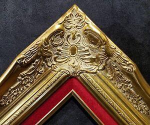 4-034-Gold-Leaf-Wood-Antique-Picture-Frame-wide-photo-art-wedding-gallery-B9GR