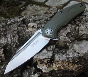 Kershaw-Messer-NATRIX-OLIVE-Taschenmesser-8Cr13MoV-Stahl-G10-Griff-KS7007OL