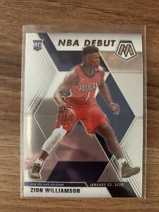 Zion Williamson 2019-20 Mosaic Rookie Card Base NBA Debut #269 Pelicans RC
