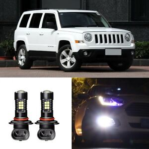 Canbus-H11-3030-21SMD-LED-DRL-Daytime-Running-Fog-Lights-Bulbs-For-Jeep-Patriot