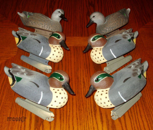 AVERY GREENHEAD GEAR GHG LIFESIZE GREEN-WINGED TEAL DUCK DECOYS WEIGHTED KEELS!