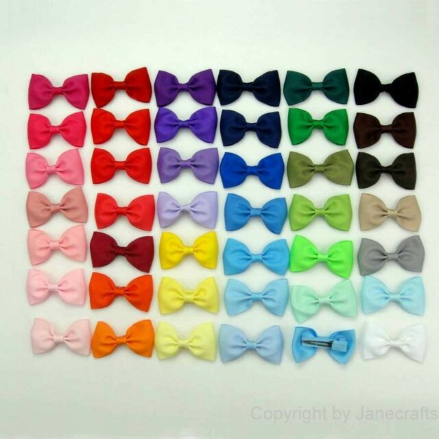 "41/82pcs 2.5"" Hair Bow Boutique Girls Baby Grosgrain Ribbon Alligator Clips"