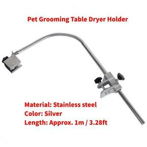 New-Pet-Hair-Dryer-Clamp-Clip-Holder-Flexible-Arm-Hose-Steel-Grooming-Table-AU
