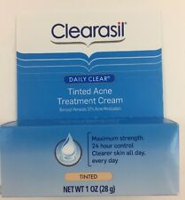 Clearasil Daily Clear Tinted Acne Treatment Cream 1 oz Exp 02/2017