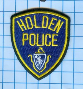 """Massachusetts Police Patch Holden Police 3/"""" X 2 1//2/"""""""
