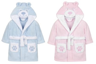 Childrens//Toddlers Soft Fleece Dressing Gown ~ 6-24 Months