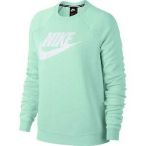 Details about NWT Women's Nike Sportswear Rally Crew Sweatshirt 930905 357 Igloo BlueWhite M