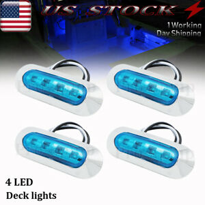 2pcs Boat LED Livewell Courtesy Stair LED Light Lamp Waterproof Blue+White