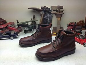 duck head brazil brown distressed leather lace up hiking trail boss