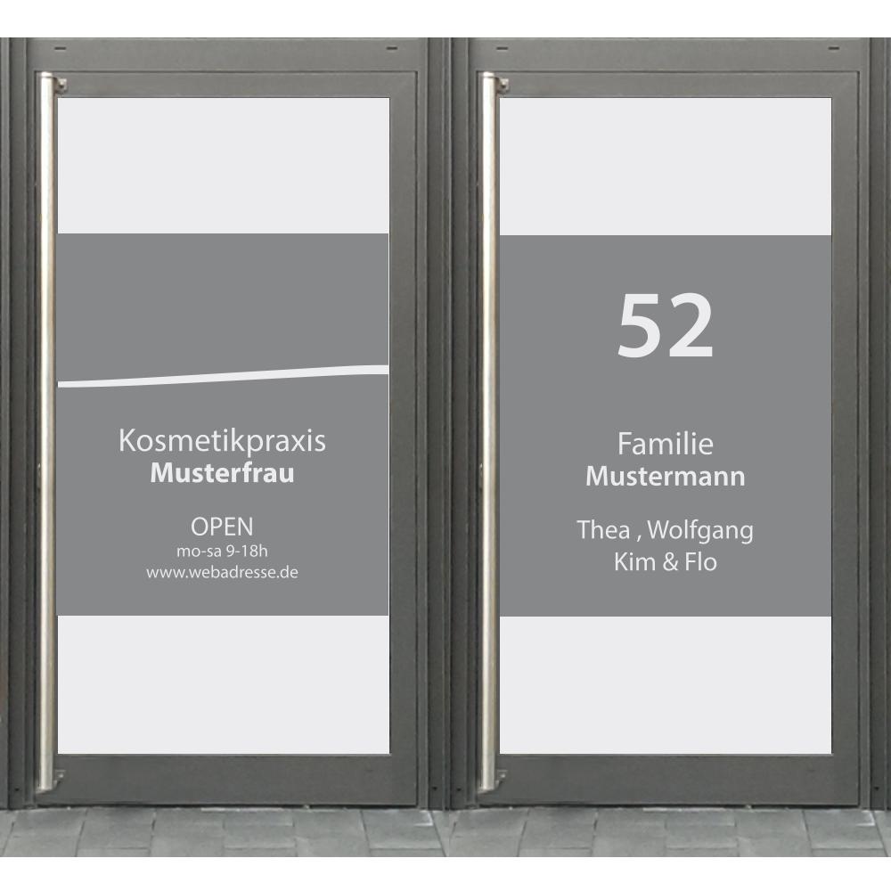 Folie Milchglas Haustür Hausnummer Hausnummer Hausnummer Glas Dekoration Sichtschutz Fenster  S102 1ffb48