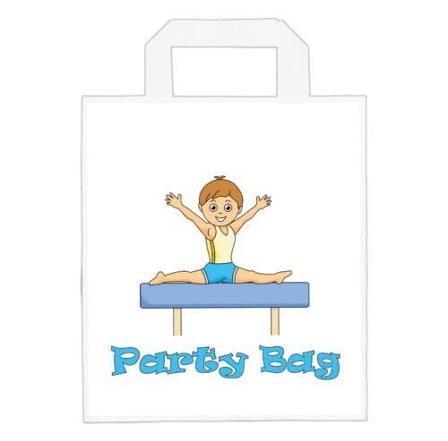 Loot Goody Bags Boys Birthday Boy Gymnast Gymnastics Party Bags Pack of 6