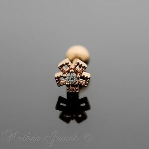 ROSE-GOLD-TRIPLE-PLATED-SIMULATED-DIAMOND-FLOWER-TRAGUS-HELIX-BODY-LABRET-STUD