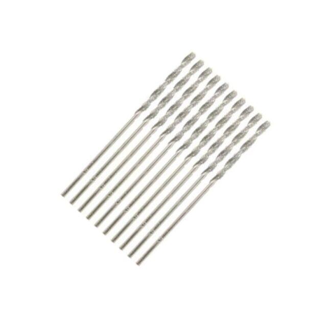 Set of 10 Diamond Coated Precision Drill Bit DIY Power Tools - 1/16 inch