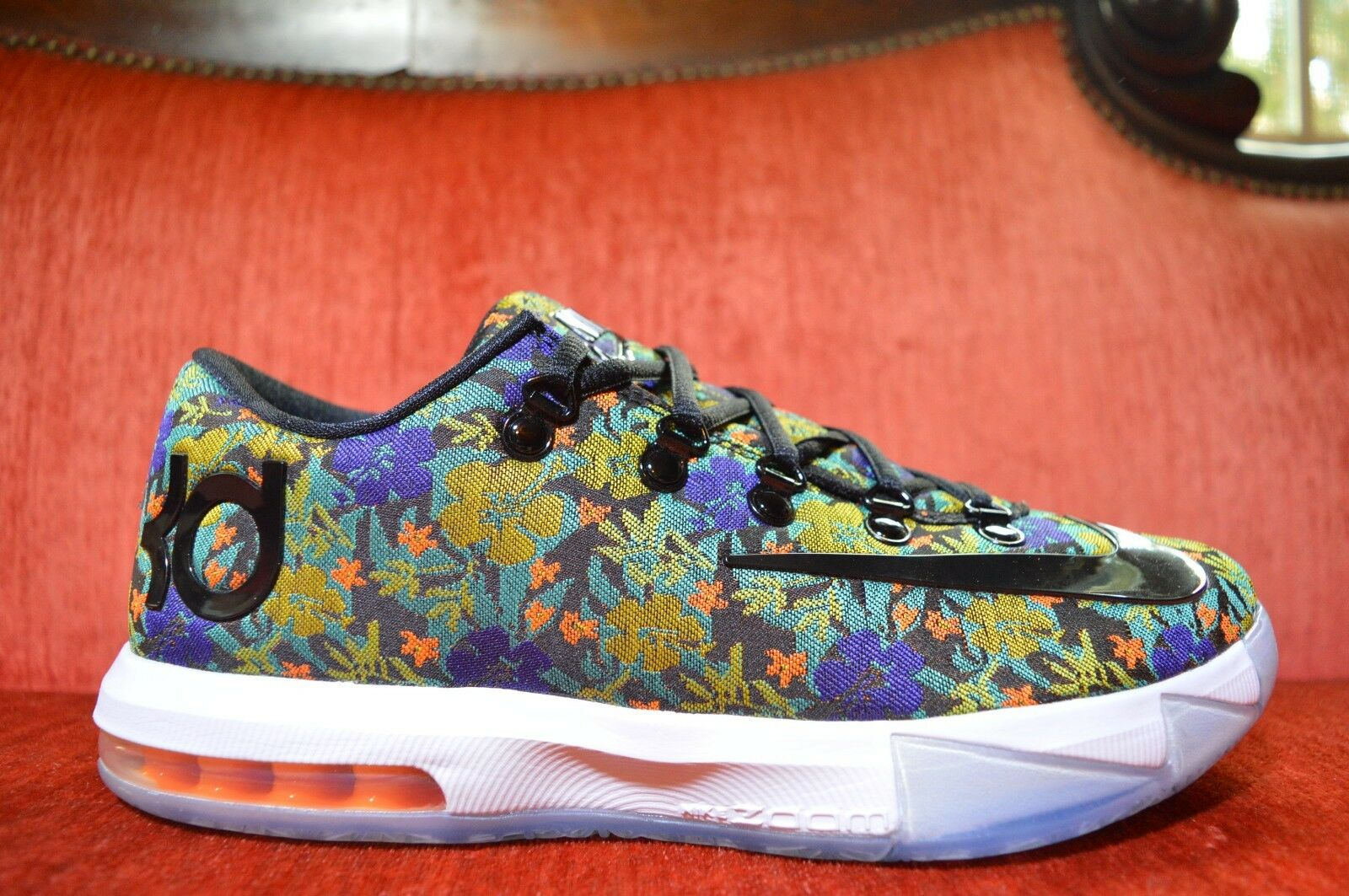 WORN ONCE Nike KD 6 VI EXT Floral QS Size 9. 652120-900 Jordan BHM What The