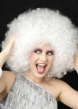 Extra Curly White 70s Disco Afro Wig