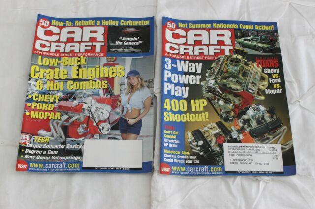 Car Craft Magazine 2003 4 Issues (Apr Sept Oct Nov)