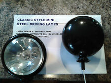2 BMW Mini  Black Spot Lights Driving Lamps WITH COVERS! Full Kit 2006 onwards