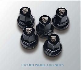 XK F-Type XE New Genuine Black Growler Wheel Nut Set of 20 C2D54172 Jaguar XF