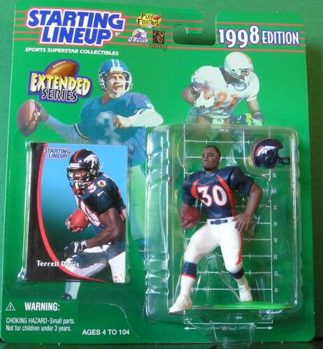Denver Broncos dula Comme neuf in Pkg 1998 TERRELL DAVIS Ext