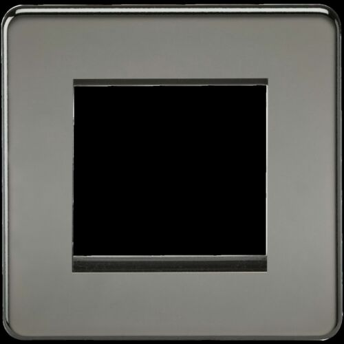 15YR garantie IP20 Screwless 2 G Modulaire plastron Nickel noir