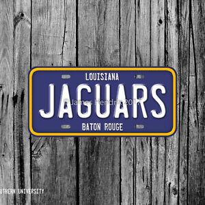 Image Is Loading Southern University Jaguars Baton Rouge  Louisiana License Plate