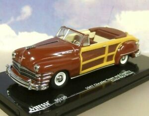VITESSE-DIECAST-1-43-1947-CHRYSLER-TOWN-amp-COUNTRY-OPEN-COSTA-RICA-BROWN-36220
