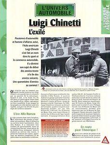 Luigi Chinetti pilote automobile Alfa Romeo 8C 2300 le Mans Auto FICHE FRANCE - France - État : Occasion: Objet ayant été utilisé. Consulter la description du vendeur pour avoir plus de détails sur les éventuelles imperfections. ... - France