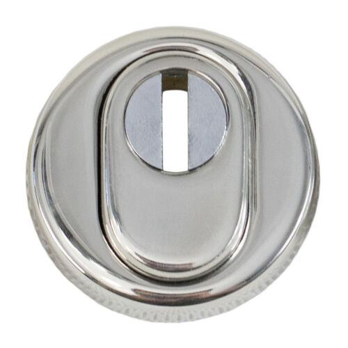 Schutzrosette EdelstahlChrom glänzend mit ZylinderabdeckungN4273ZA