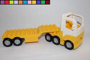 Lego-Duplo-LKW-Truck-Sattelschlepper-Loschzug-gelb-weis-aus-7844-Flughafen
