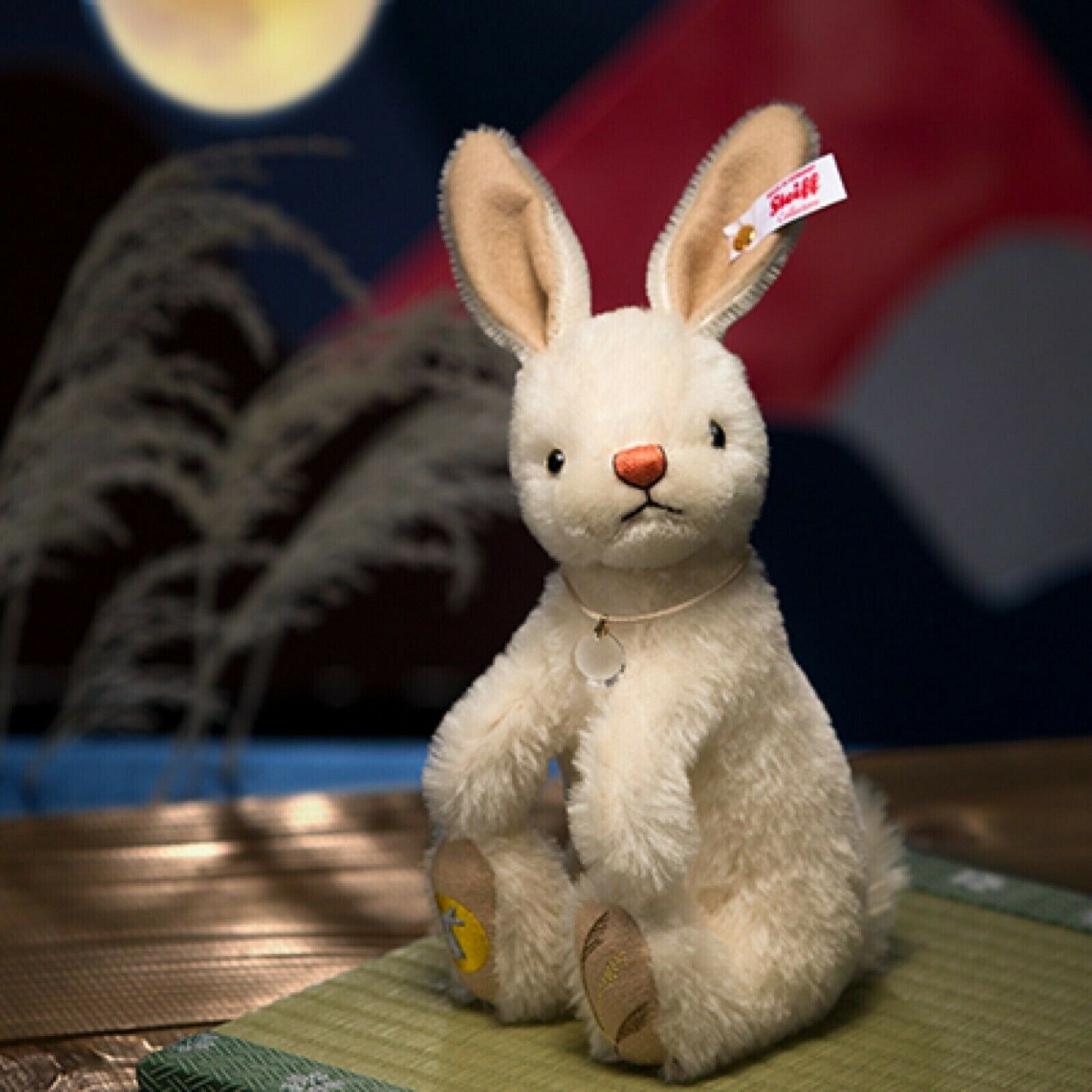 Steiff 15th Night Viewing Full Moon Weiß Rabbit Plush LE 1500 F S Japan Autumn